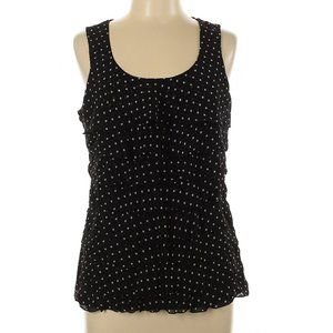 EUC White House Black Market Polka Dot Top – M
